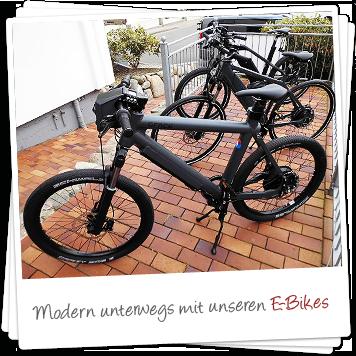 Modern unterwegs mit unseren E-Bikes!